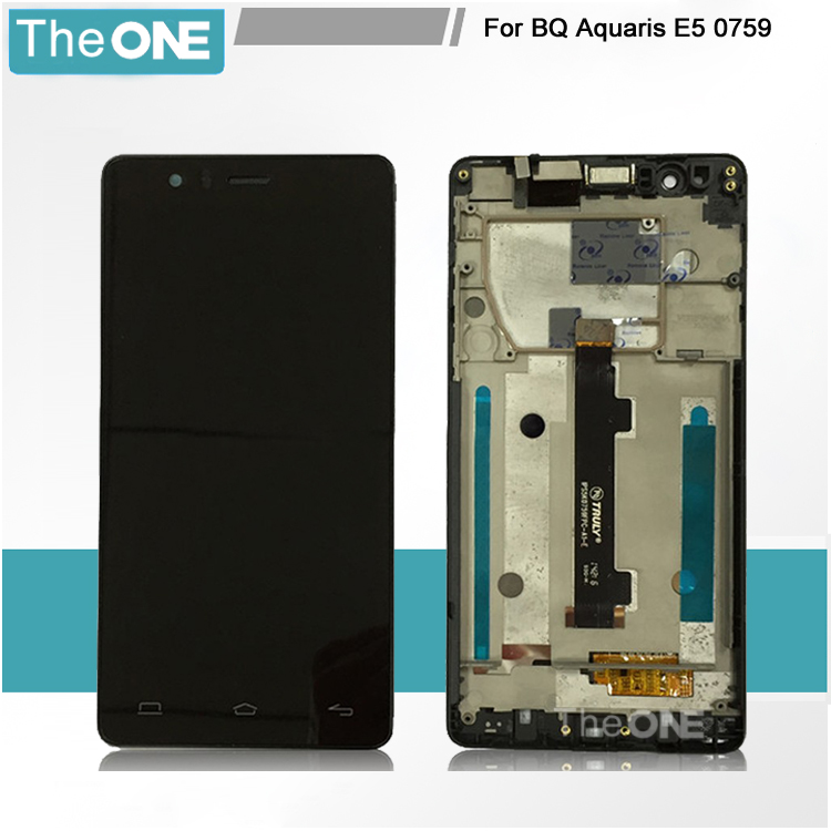 LCD Display For BQ Aquaris E5 HD Touch Screen Digitizer Assembly IPS5K0759FPC-A1-E With Frame Free Shipping