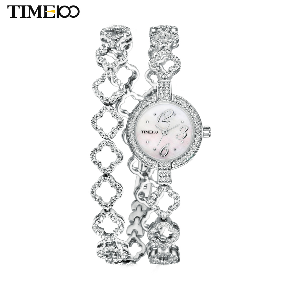 New TIME100 Women's Quartz Watches Free Bracelet Round Dial Diamond Jewelry Alloy Strap Ladies Bracelet Watches Reloj Mujer цена