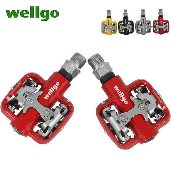 2db91471c35 Wellgo WM001 MTB Off-road Bike Clipless Pedals Compatible With Cleats