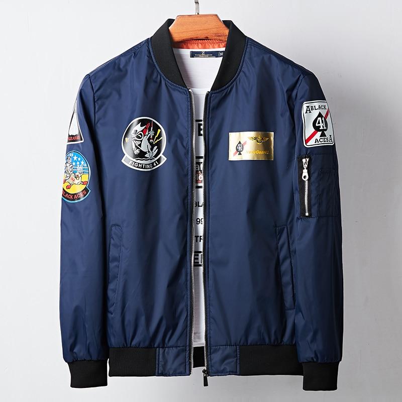 Military Tactical Bomber Jacket Men Hip Hop Fashion Streetwear Windbreaker Flight Jacket Mens Army Green Black Blue Coat Male