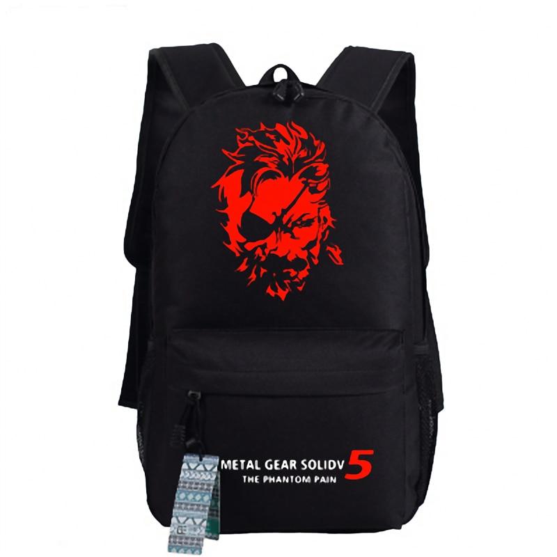 Balc Skull Metal Gear Solid V Diamond Dogs Cosplay Backpack Unisex Shoulder School Bag футболка стрэйч printio diamond dogs metal gear solid