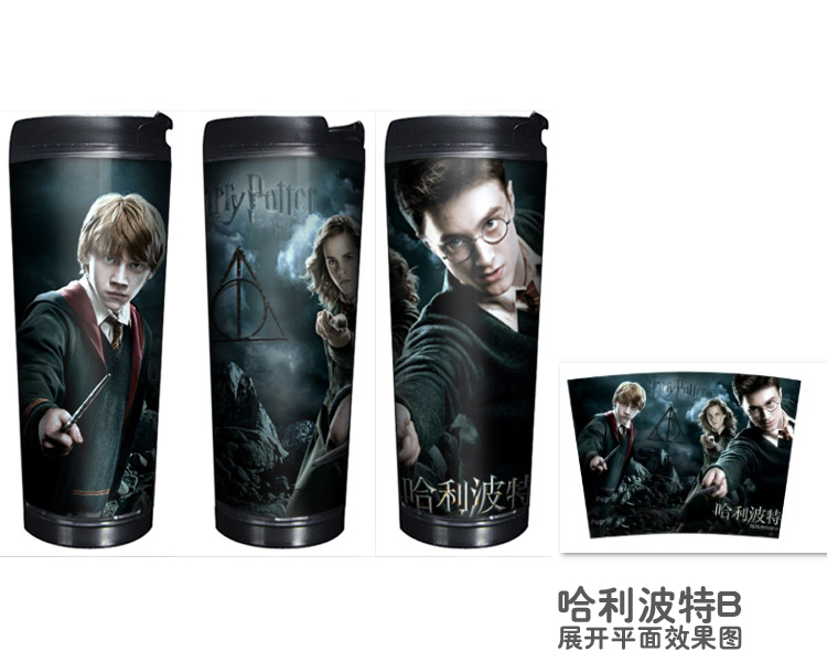 HOT SALE Cup Harry Potter 2 Models Double Insulation Plastic and Stainless Steel Mug Coffee Cup