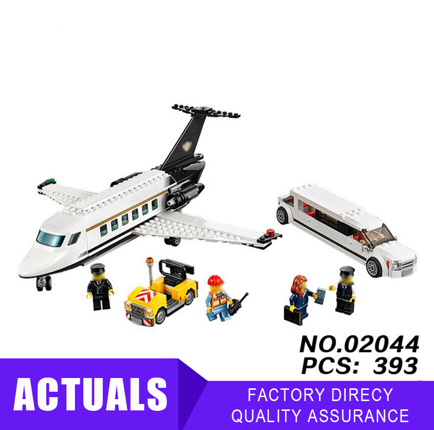 In Stock Airport Vip Service Set 02044 Building Blocks Plane Bricks Toys Compatible With Lego 60102 City Series 393pcs Blocks Toys & Hobbies