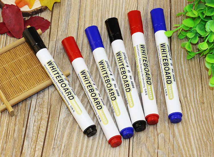 100pcs per lot wholesale whiteboard marker pen Office supplies white board pen set white board marker pen wholesale price hand polished brass pen hexagonal shape automatic copper pen 100pcs lot