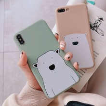 Zagter cute cartoon bear case For iphone 6 7 8 X Case Fundas XS S 6s 7Plus 8Plus candy Cover Plus