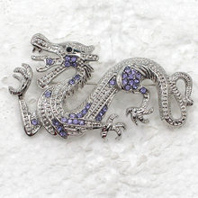 Dragão strass Pin broches C299 Q