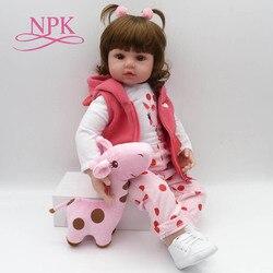 NPK bebe reborn doll 47cm soft silicone reborn baby dolls com corpo de silicone menina baby dolls Christmas gifts lol surprice