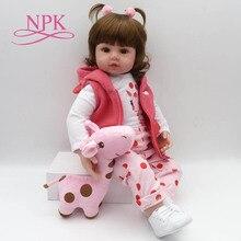 Bebes Кукла реборн 47 см мягкие силиконовые куклы для новорожденных и малышей com корпоративных де силиконовые menina Детские куклы Рождественские подарки lol кукла сюрприз