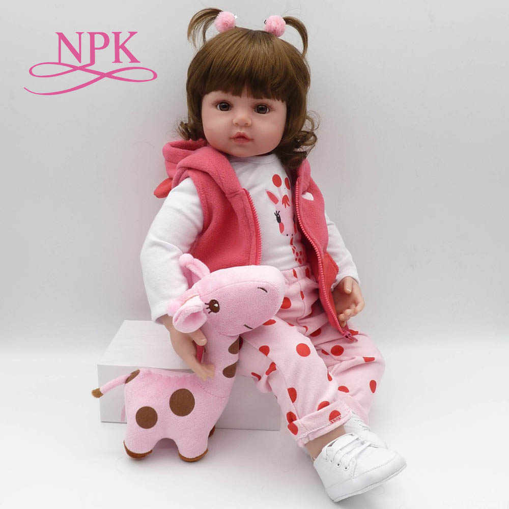 bebes reborn doll 47cm soft silicone reborn toddler baby dolls com corpo de silicone menina  Christmas surprice gifts lol doll