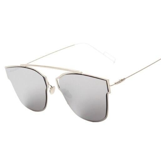 Contienen oro rosa! 2016 nuevo sin montura gafas De Sol De espejo ...