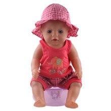 Кукла аксессуары, Розовый Шляпа + футболка + Брюки подходят 43 см Baby Born zapf, дети лучший Подарок На День Рождения N290