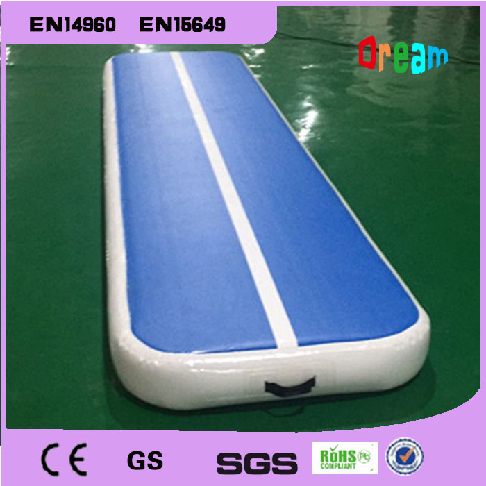 Free Shipping 4m Inflatable Tumble Track Trampoline Inflatable Air Track Air Track Gymnastics Inflatable Air Mat new arrival yoga mats 0 9 3m inflatable tumble track trampoline air track floor home gym gymnastics inflatable air tumbling mat
