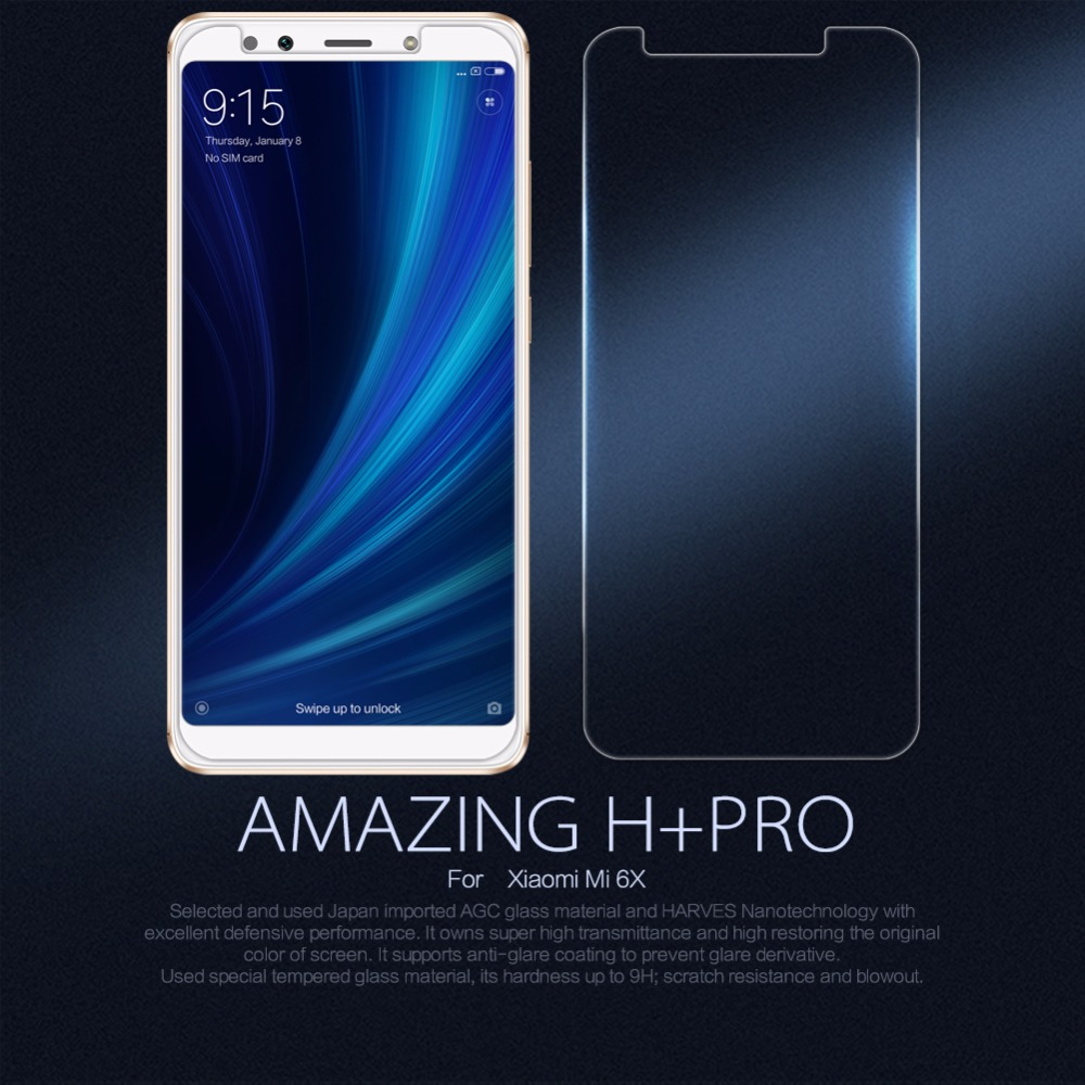 Nillkin H+PRO Screen Protector protective glass for Xiaomi Mi 6X A2 Tempered Glass film Anti-Explosion 2.5D 9H 0.2mm