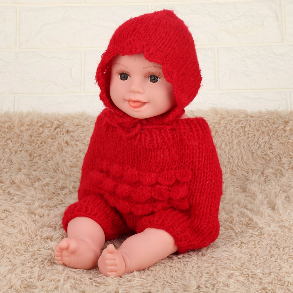Hot Sale Newborn Baby Photography Props Baby Hat Baby Cap Soft Wrap Infant Toddler Sleeping Swaddle Knit Cute Baby Cap And Pants