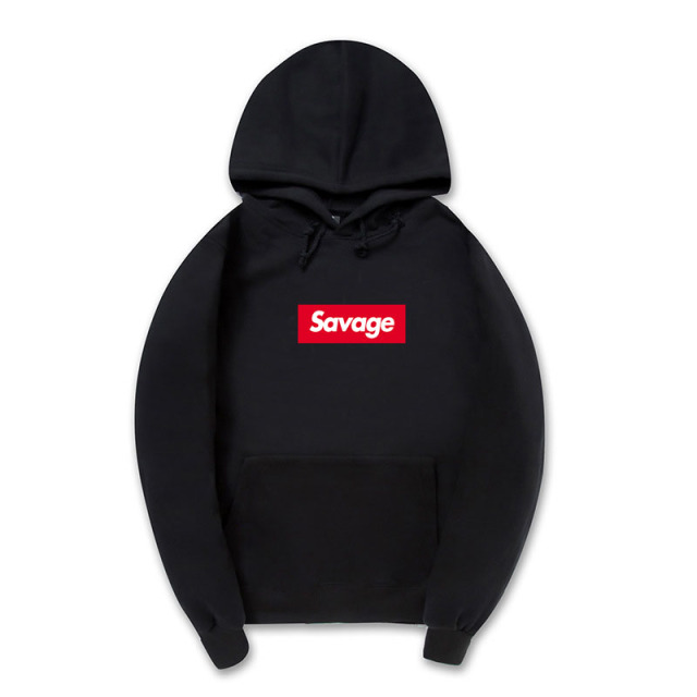 2017 100% Cotton 21 Savage Street Wear Suprem Hoodies Parody No Heart X Savage Fear Of God Hoodie Sweatshirt Men Women Hip Hop
