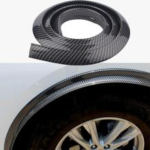 Single Car Carbon Fiber Wheel Eyebrow Soft Rubber 3D Three-Dimensional Mudguard Decorative Stickers Anti-Collision Trim