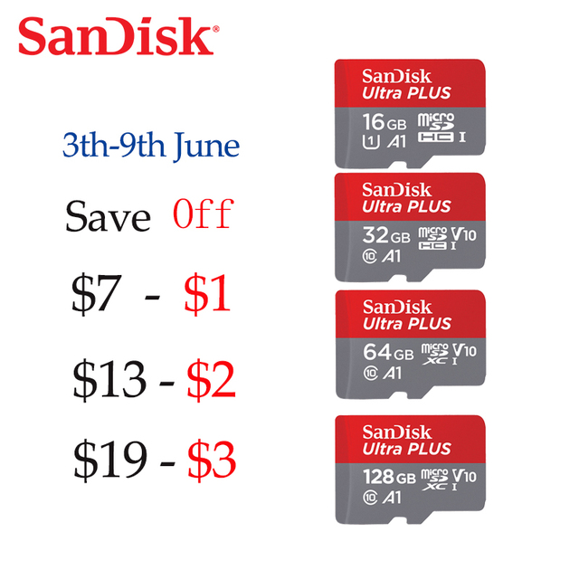SanDisk 100% Original Sandisk A1 Microsd Class10 16GB 32gb Micro SD card 64gb 128GB 98Mb/s memory card Video card