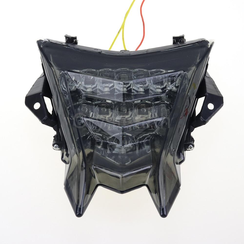 Pour BMW S1000R HP4 S1000RR 2010-2016 11 12 13 14 15 Intégré à Moto feu arrière LED clignotant Clignotant Lampe Fumée