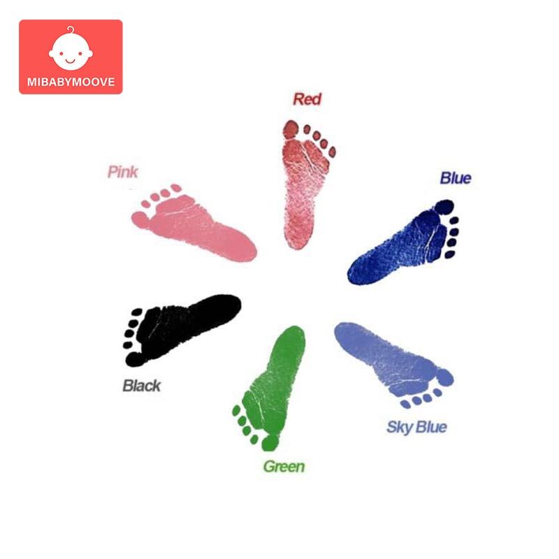 Baby Handprint Footprint Imprint Kit Non-Toxic Newborn Souvenirs Casting Footprint Ink Pad Infant Footprint Ink Pad Baby Toys