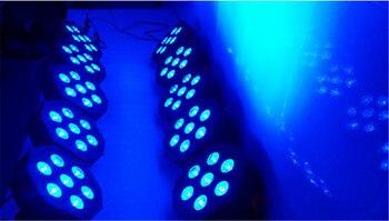 4 sztuk RGBW 4in1 7x12 W led par DMX światła sceniczne biznes płaskie led światła o wysokiej mocy z profesjonalnym dla party KTV Disco DJ