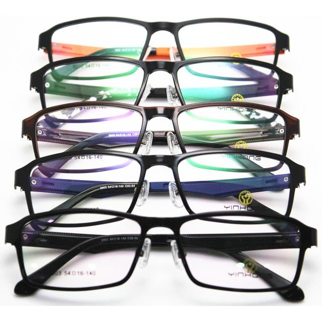 Titanium montura de gafas de plástico de acero de tungsteno de alta plástico marco exceda luz chica estudiante tendencia de la moda gafas