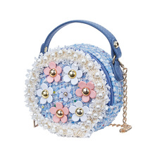Women Clutch Purse Hand Bags Cute Kids Girls Princess Messenger Bag Baby Girl Pearl Crossbody Bags Purses Handbag gift