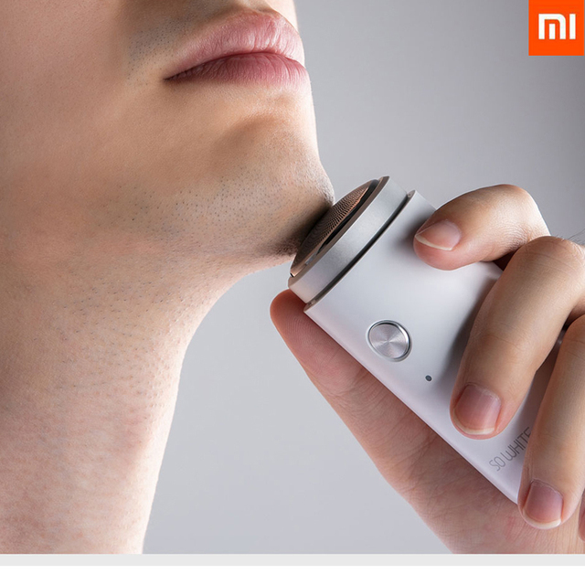 XIAOMI SO WHITE Men Mini Electric Shaver Deep Clean Washable Rechargeable Dry And Wet Double Shaving Portable for Business Trip