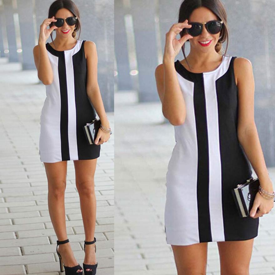 Fashion attractive womens lady casual sleeveless party mini dress high quality popular fabulous fancinating dresses