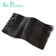 "Ali Peerless Hair Malaysian Virgin Staright Hair 100% Unprocessed Human Hair 1 Piece 10"" to 28"" Nature Black Free Shipping(China)"