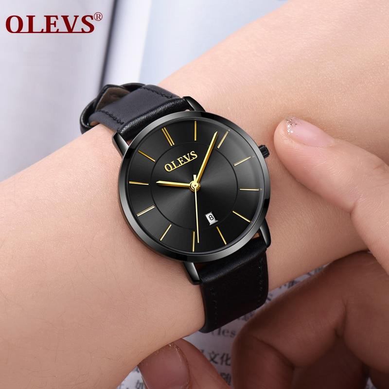 Livraison gratuite OLEVS Horloge femmes Calendrier Montre-Bracelet Top Marque De Luxe Mode Sport en acier Inoxydable montres femmes montres