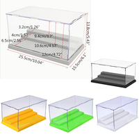 3 Steps Display Case Box Dustproof ShowCase Gray Base For Legoings Blocks Acrylic Plastic Display Box