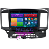 Roadlover 10.2Inch Android 6.0 Car Multimedia Radio Player For Mitsubishi Lancer 2008 Stereo GPS Navigation Video 2 Din NO DVD