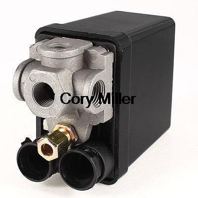 240V 20A 4 Port Black Cover Automatic Air Compressor Switch Pilot Valve цена