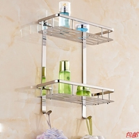 AUSWIND Silver 304 Stainless Steel Bathroom Shelves Quartet Double Toilet Wall Mount Bathroom Accessorie Kh10