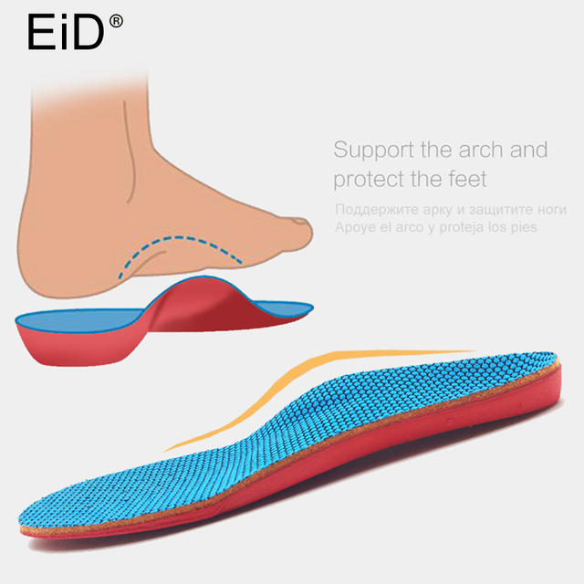 660e790df6 EID 3D Orthotic Insoles flat feet for kids and Children Arch Support insole  for X-Legs child orthopedic shoes Foot Care