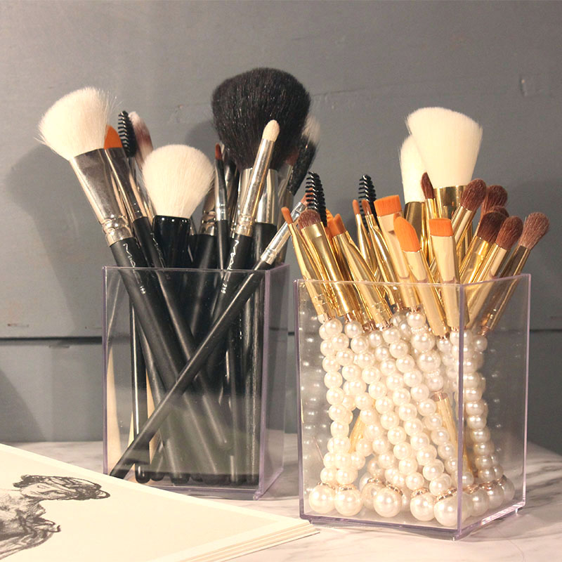 New Big Acrylic makeup brush holder makeup brush set case ...