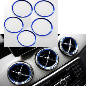 Image 2 - Angelguoguo For Mercedes Benz A/B/GLA/CLA Class Aluminium Alloy Air outlet sticker/Instrument Panel Air Outlet Decoration Ring