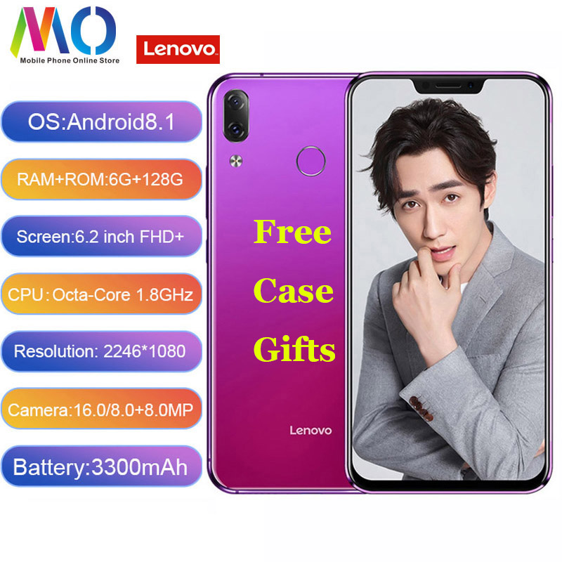 Lenovo Z5 Cell Phone 6GB 128GB Snapdragon 636 Octa Core Mobile Phone Full Screen 6.2'' L78011 Smartphone Android 8.1 4G FDD LTE