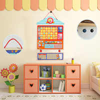 Kids Baby Wooden Magnetic Reward Activity Responsibility Chart Behavior Target Schedule Recording Board Calendar Learning Toy