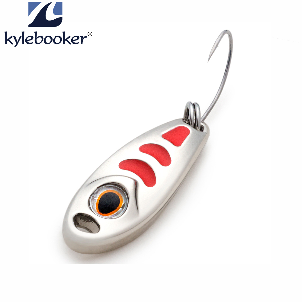 Fishing lure spoon Single hook  1.5g 3g 5g  metal lure hard bait jig lures spinnerbait  fishing tackle Small Pea
