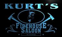 X0024 Tm Jason S FireHouse Saloon Firefighter Fire Dept Personalized Neon Sign Wholesale Dropshipping