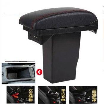 Cajas De Almacenamiento De Cuero   Para Peugeot 2008 Reposabrazos Caja De Almacenamiento Central Accesorios De Modificación