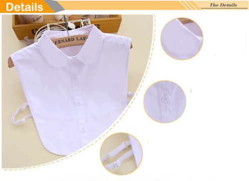 2018 Newest Products Womens False Collar Fake Half Shirt Blouse Collar Vintage Detachable Bib Collar