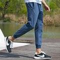 Пионерский Лагерь мужские брюки тонкий капри тренировочные брюки мужчины эластичные брюки хлопок jogger брюки осень брюки мужчины 622063