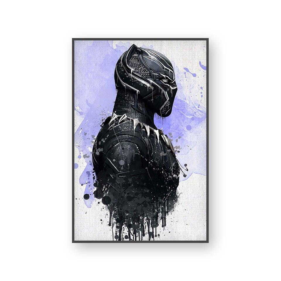 Настенный художественный холст с печатью постера, настенные картины для домашнего декора, Марвел, Мстители, фильм супергерой, Дэдпул, Железный Человек-паук, Локи - Цвет: L394A