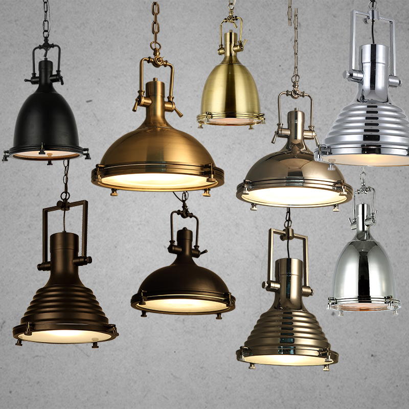 Modern Retro Industrial Loft Pendant Light Vincent Chrome Country Rustic Pendant Lamp Fixture Lighting E27 For Cafe Parlor