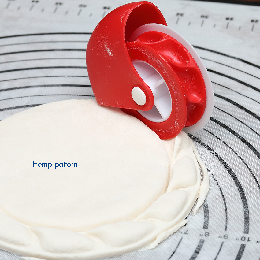 Pastry Wheel Cutter, Beautiful Lattice Pie Crust or Ravioli Pasta, Manual Pastry Cutter Wheel Easy to Use, Easy to Clean