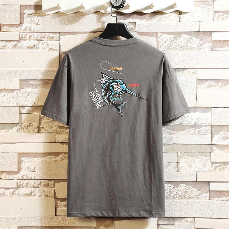 BQODQO 2019 Футболка мужская летняя футболка уличная Мужская рубашка манга японский 100% хлопок футболка с круглым вырезом принт белый мода негабаритных