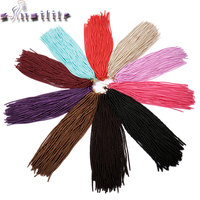 S Noilite 3 Pack Lot 330g 24 Crochet Braids Synthetic Braiding Hair 20strands Pack Full Head