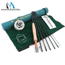 Maximumcatch 9FT 5/6/7/8WT 7pcs Traveler Fly Fishing Rod Combo Graphite IM10/30T+36T Carbon Fiber Fly Rod with Fly reel Combo недорого